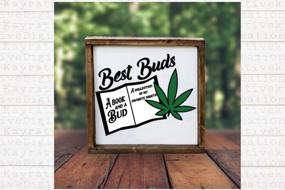 Download Free Books And Buds Marijuana Svg Graphic By Kayla Griffin Creative Fabrica for Cricut Explore, Silhouette and other cutting machines.