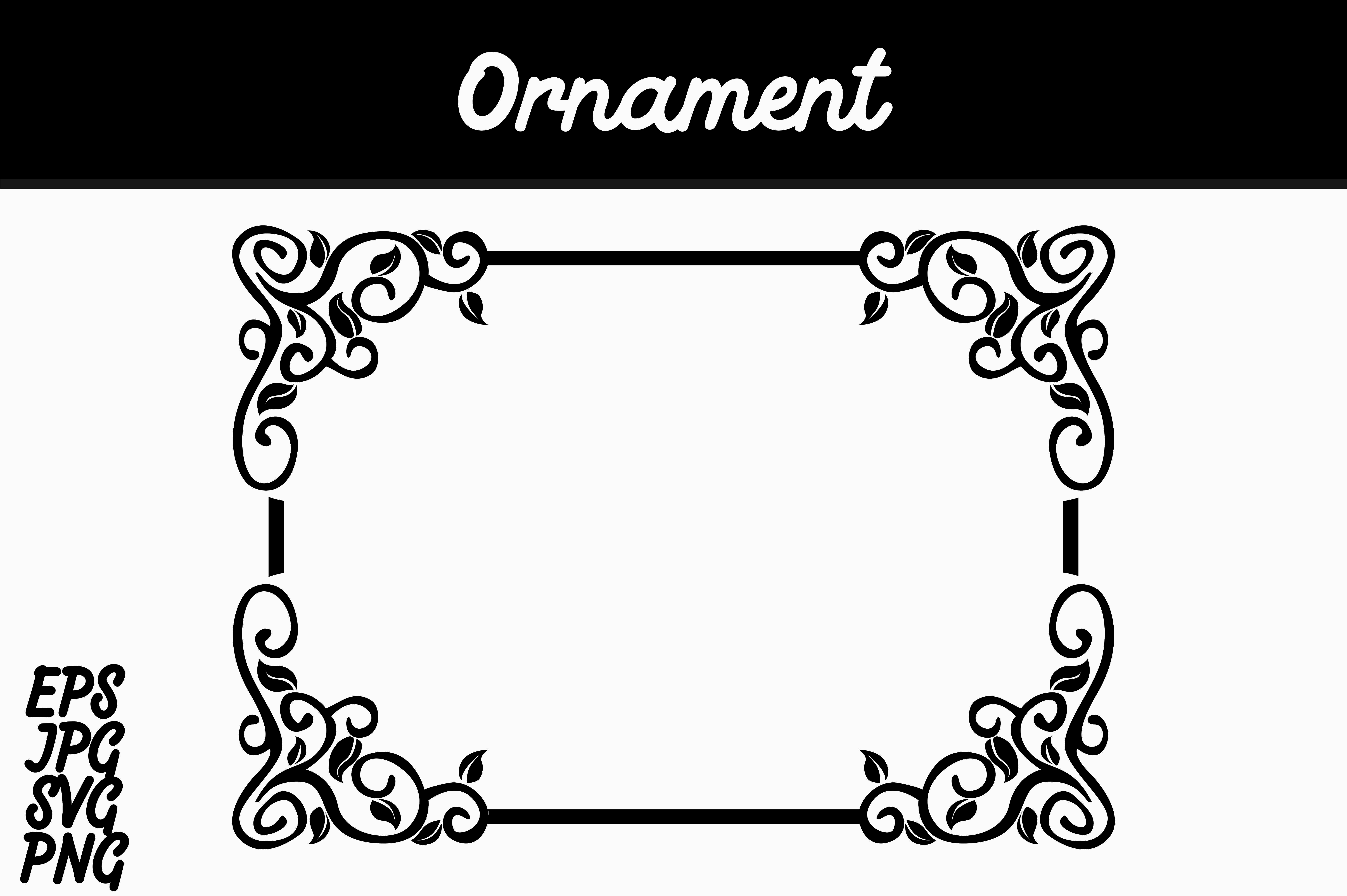 Download Free Border Ornament Svg Vector Image Graphic By Arief Sapta Adjie for Cricut Explore, Silhouette and other cutting machines.