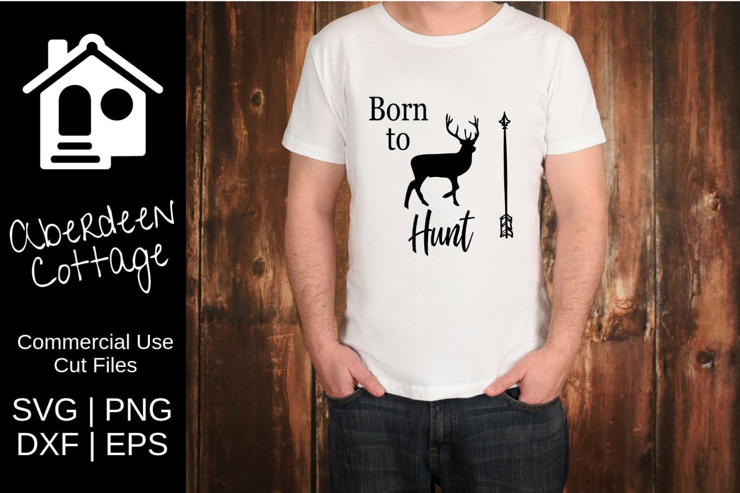 Download Free Born To Hunt Design Graphic By Aberdeencottage Creative Fabrica for Cricut Explore, Silhouette and other cutting machines.