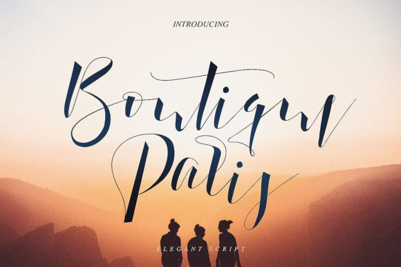 Boutique Paris Script & Handwritten Font By JumboDesign