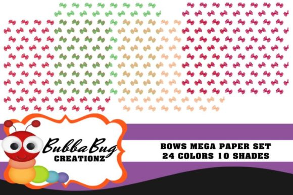 Bows Mega Paper Set Graphic Patterns By BUBBABUG