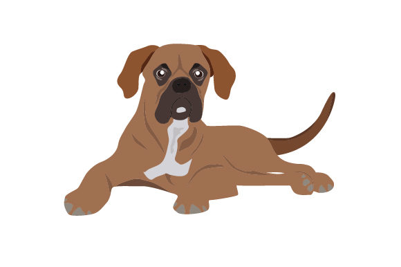 Download Free Boxer Dog With Natural Ears And A Tail Svg Cut File By Creative for Cricut Explore, Silhouette and other cutting machines.