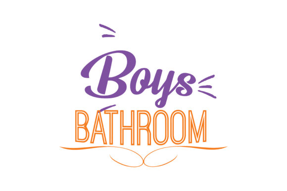 Download Free Boys Bathroom Quote Svg Cut Graphic By Thelucky Creative Fabrica for Cricut Explore, Silhouette and other cutting machines.