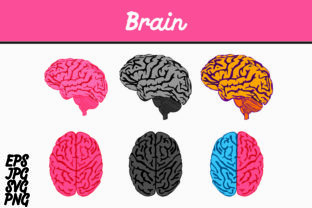 Download Free Brain Set Svg Vector Image Bundle Graphic By Arief Sapta Adjie for Cricut Explore, Silhouette and other cutting machines.