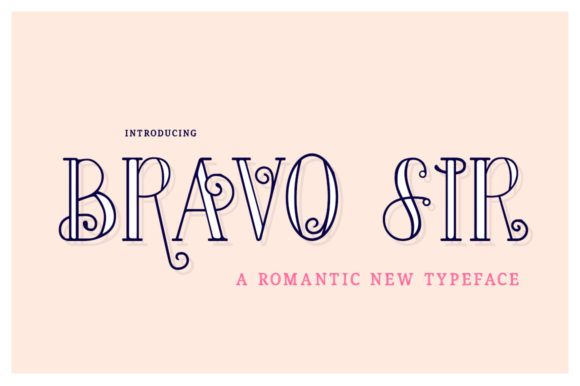 Print on Demand: Bravo Sir Family Serif Font By Salt & Pepper Designs