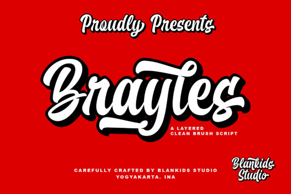 Print on Demand: Brayles Script & Handwritten Font By Blankids Studio