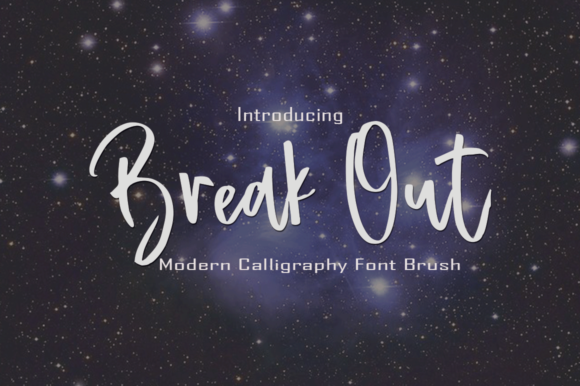 Print on Demand: Break out Script & Handwritten Font By faisal_Alfaraby