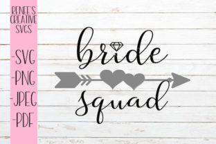 Download Free Bride Squad Svg Graphic By Reneescreativesvgs Creative Fabrica for Cricut Explore, Silhouette and other cutting machines.