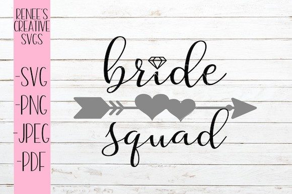 Print on Demand: Bride Squad Svg Graphic Crafts By ReneesCreativeSVGs - Image 1