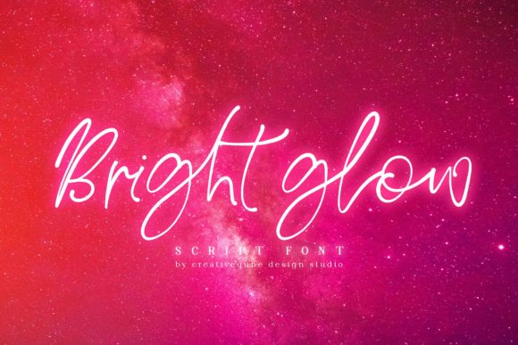 Bright Glow Font By Creativeqube Design Image 1