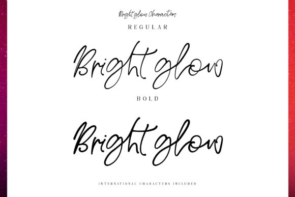 Bright Glow Font By Creativeqube Design Image 7