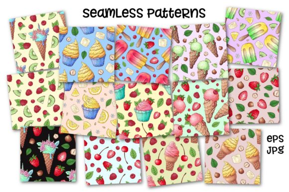 Print on Demand: Bright Sweets Graphic Illustrations By nicjulia - Image 4