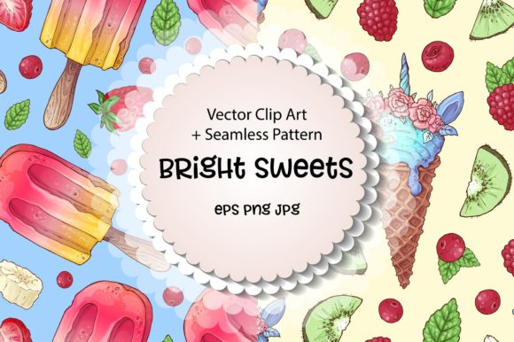 Print on Demand: Bright Sweets Graphic Illustrations By nicjulia - Image 1