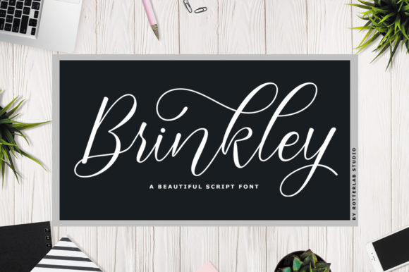 Print on Demand: Brinkley Manuscrita Fuente Por rotterlabstudio