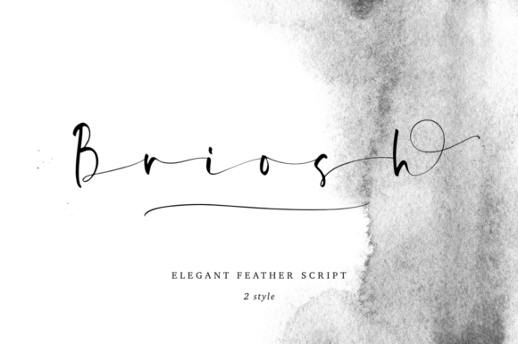 Print on Demand: Briosh Script & Handwritten Font By Pasha Larin