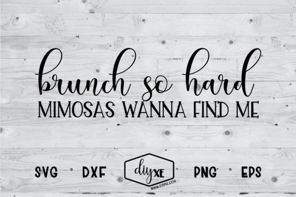 Brunch so Hard SVG Graphic By Sheryl Holst Image 1