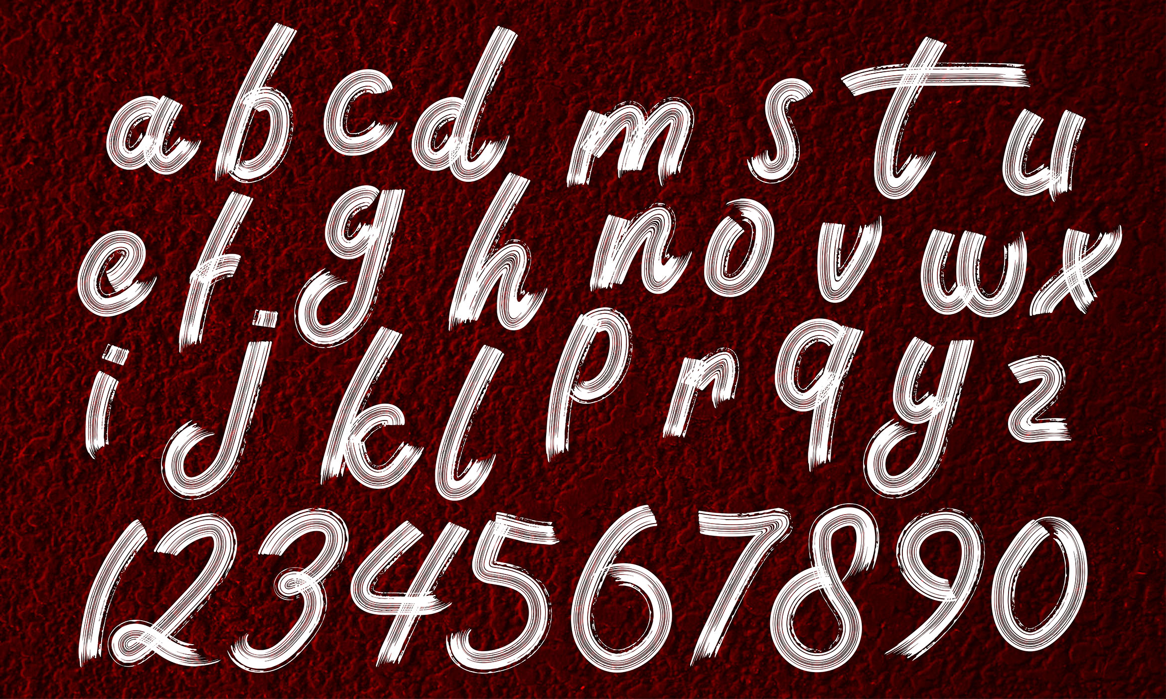Download Free Brush Alphabet Lowercase Graphic By Aminmario Creative Fabrica for Cricut Explore, Silhouette and other cutting machines.
