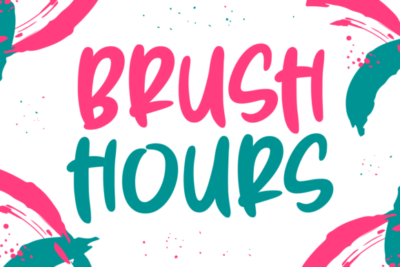 Print on Demand: Brush Hours Script & Handwritten Font By Situjuh