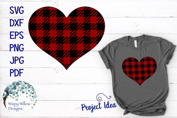 Download Free Buffalo Plaid Heart Svg Graphic By Wispywillowdesigns Creative SVG Cut Files