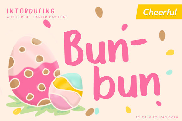Print on Demand: Bunbun Display Fuente Por Trim Studio