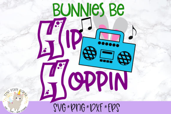 Download Free Bunnies Be Hip Hoppin Svg Grafico Por The Pixel Llama Creative for Cricut Explore, Silhouette and other cutting machines.