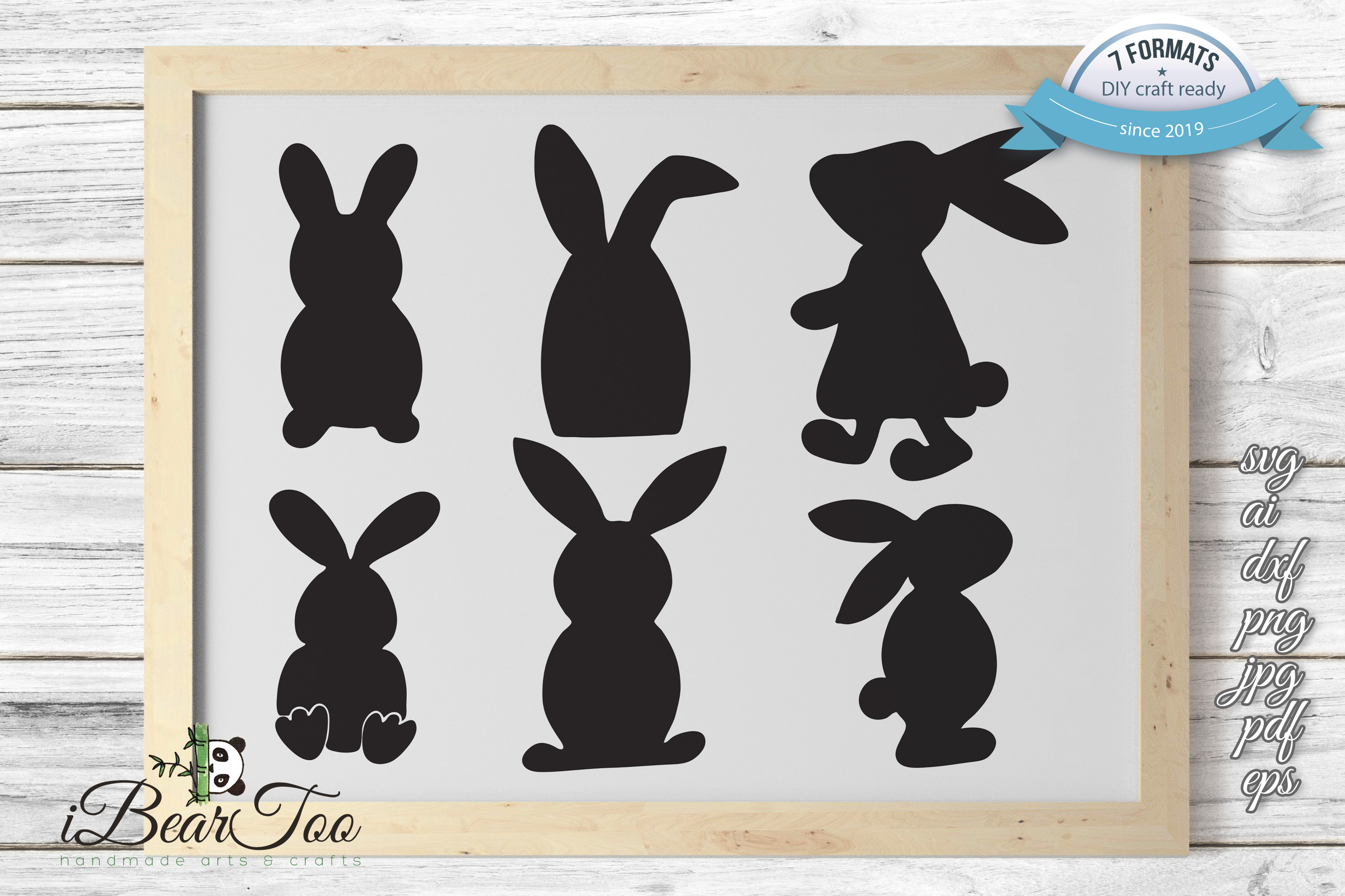 Download Free Bunnies Vector Bundle Easter Graphic By Ibeartoo Creative Fabrica for Cricut Explore, Silhouette and other cutting machines.