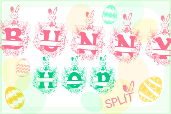 Print on Demand: Bunny Hop Split Display Font By Anastasia Feya