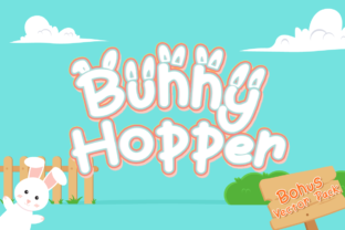 Bunny Hopper Display Font By attypestudio
