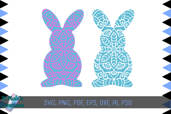 Download Free Bunny Mandalas Svg Bundle Graphic By D Hale S Creations for Cricut Explore, Silhouette and other cutting machines.