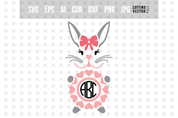Bunny Monogram Graphic Crafts By danieladoychinovashop