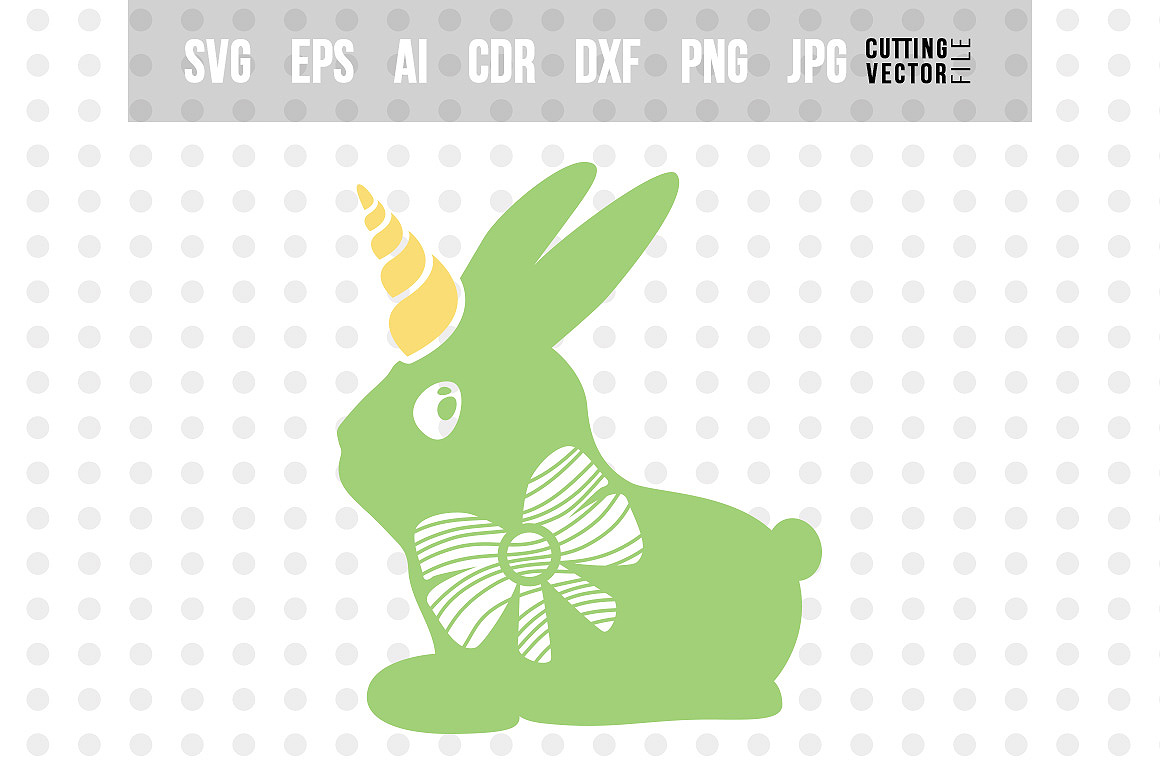 Download Free Bunny Unicorn With Bow Graphic By Danieladoychinovashop for Cricut Explore, Silhouette and other cutting machines.
