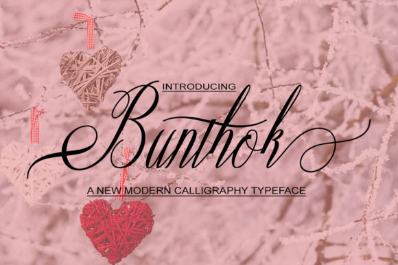 Print on Demand: Bunthok Script & Handwritten Font By typedesign93