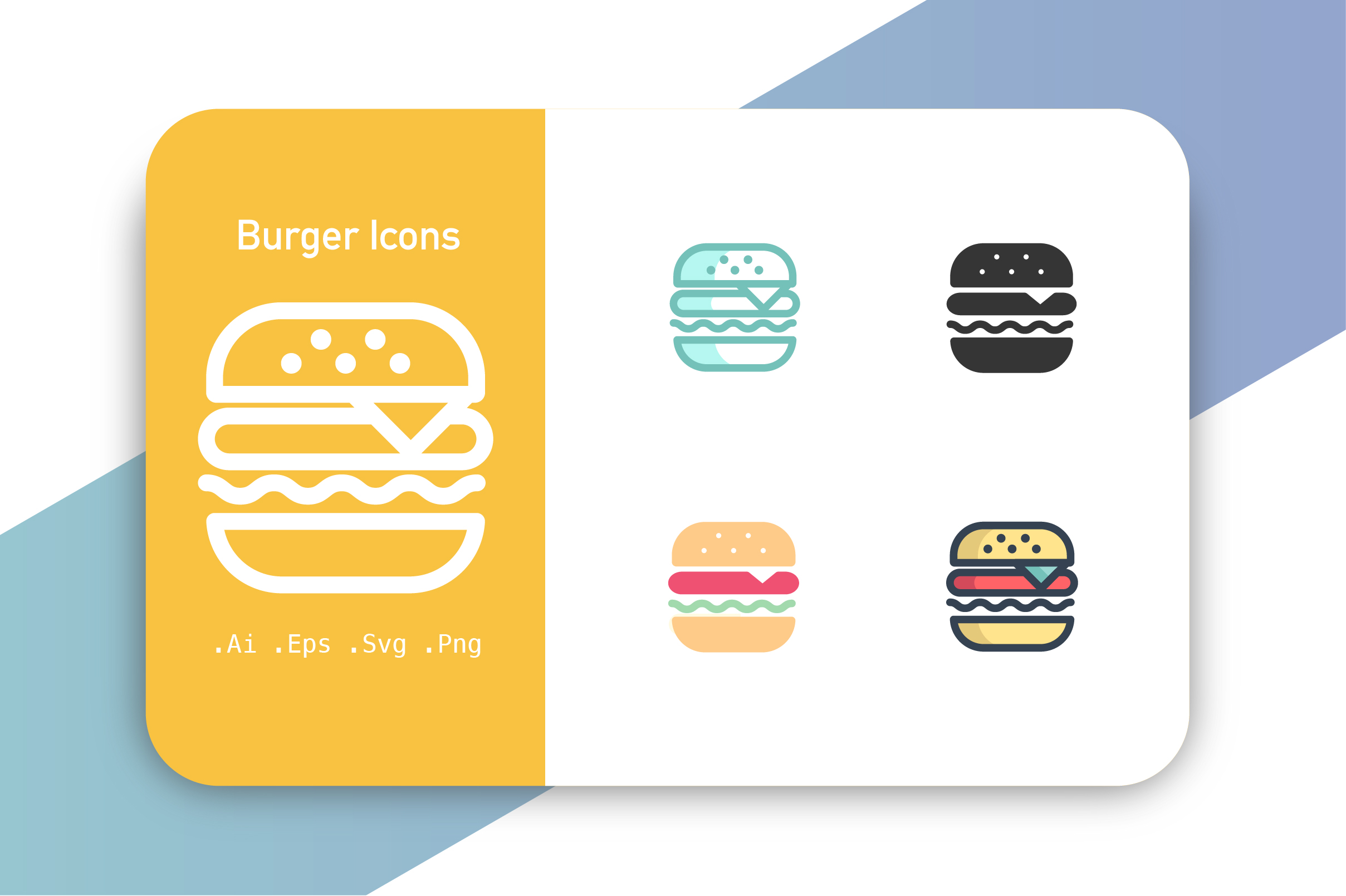 Download Free Burger Icons Graphic By Hellopixelzstudio Creative Fabrica for Cricut Explore, Silhouette and other cutting machines.