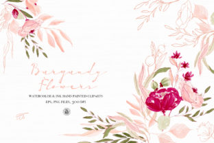 Burgundy Flowers Graphic By webvilla