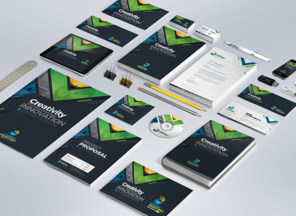 Print on Demand: Business Mega Stationery Branding Identity Bundle Graphic Print Templates By ContestDesign