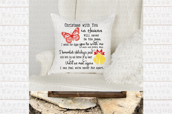 Butterfly Christmas Memorial Svg Graphic By Kayla Griffin