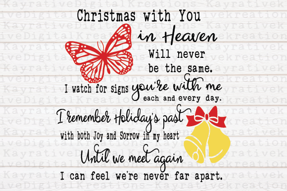 Download Free Butterfly Christmas Memorial Svg Graphic By Kayla Griffin for Cricut Explore, Silhouette and other cutting machines.