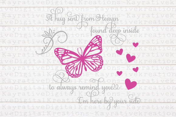 Butterfly Memorial SVG File