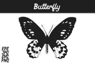 Print on Demand: Butterfly Silhouette Vector Image Graphic Crafts By Arief Sapta Adjie
