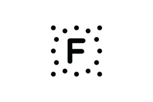 F Keyboard Icon - Square & Dots 8 Graphic Icons By Cowboy Studios