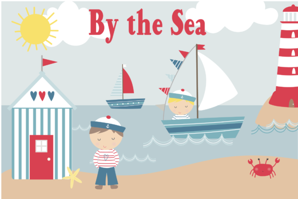 Print on Demand: By the Sea Graphic Illustrations By poppymoondesign