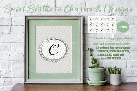 C Monogram  15 1 Inch Graphic Crafts By Sweet Southern Charms