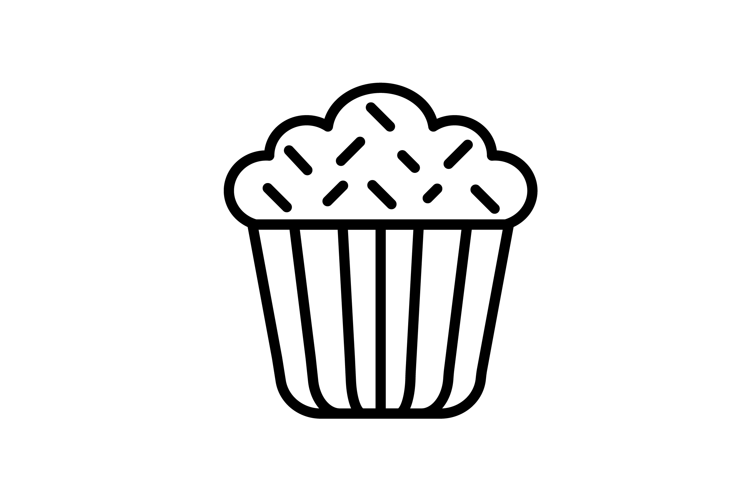 Download Free Cake Icon Graphic By Arus Creative Fabrica for Cricut Explore, Silhouette and other cutting machines.
