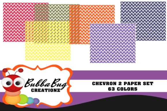 Chevron 2 Paper Set Graphic Patterns By BUBBABUG