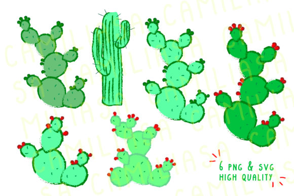 Download Free Cactus Clip Art Graphic By Inkclouddesign Creative Fabrica SVG Cut Files