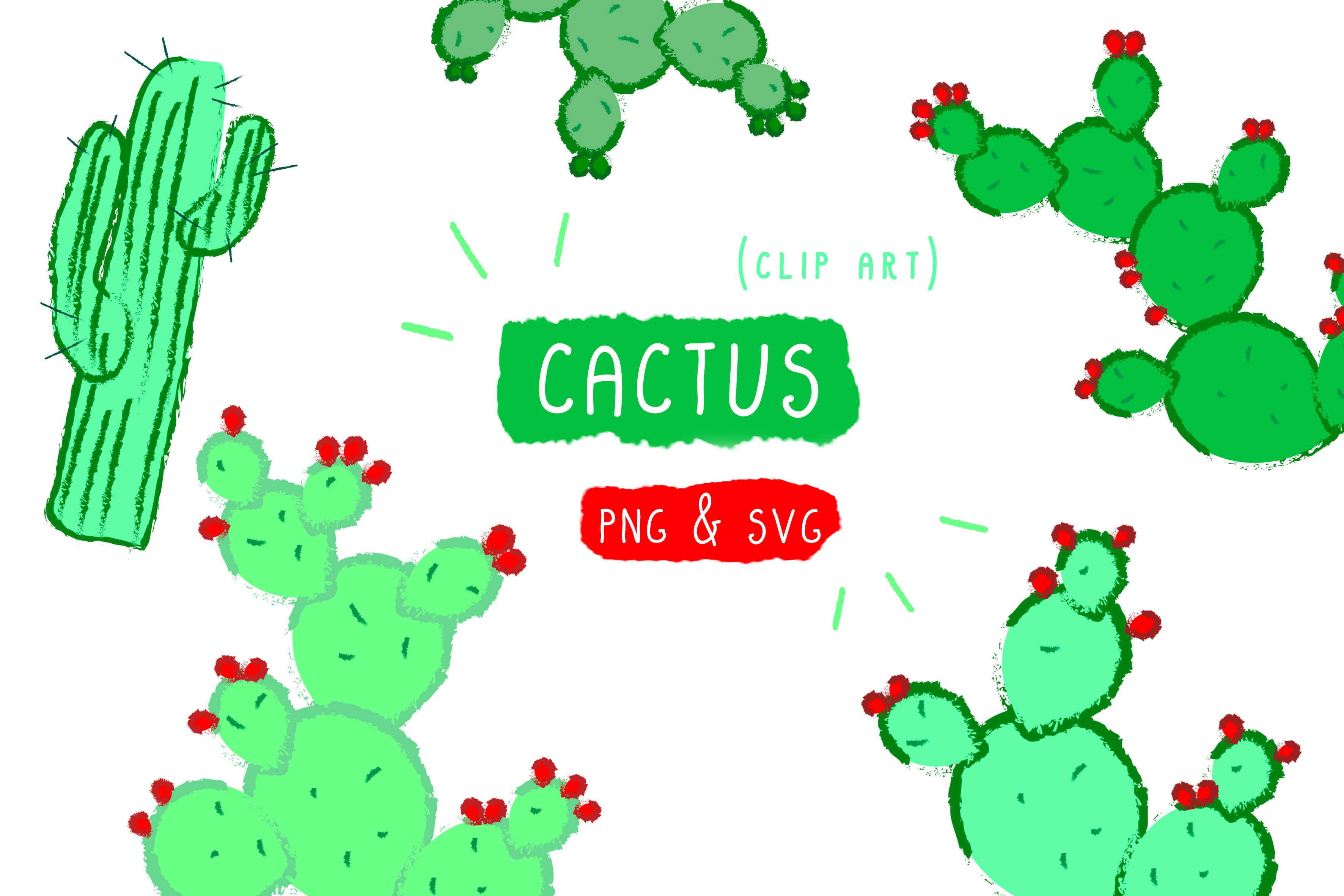 Download Free Cactus Clip Art Graphic By Inkclouddesign Creative Fabrica for Cricut Explore, Silhouette and other cutting machines.