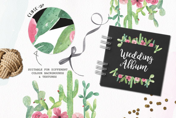 Download Free Cactus Frames 7 Clipart Watercolour Cacti Frame Succulent Graphic for Cricut Explore, Silhouette and other cutting machines.
