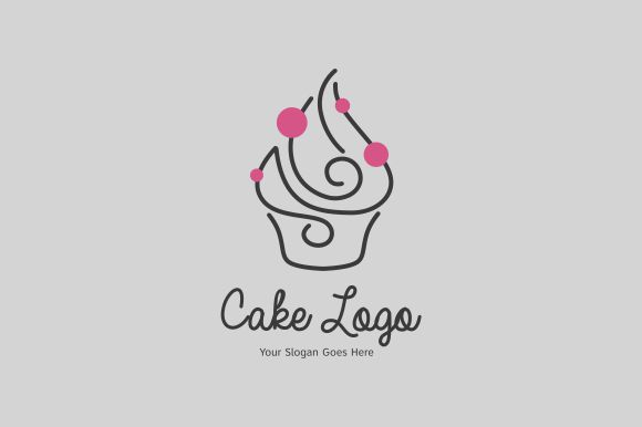 Download Free Cake Logo Template Graphic By Zaenal Abidin4133 Creative Fabrica for Cricut Explore, Silhouette and other cutting machines.