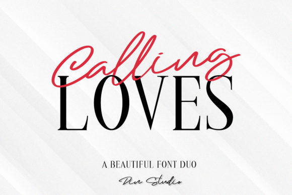 Print on Demand: Calling Loves Duo Display Font By Din Studio