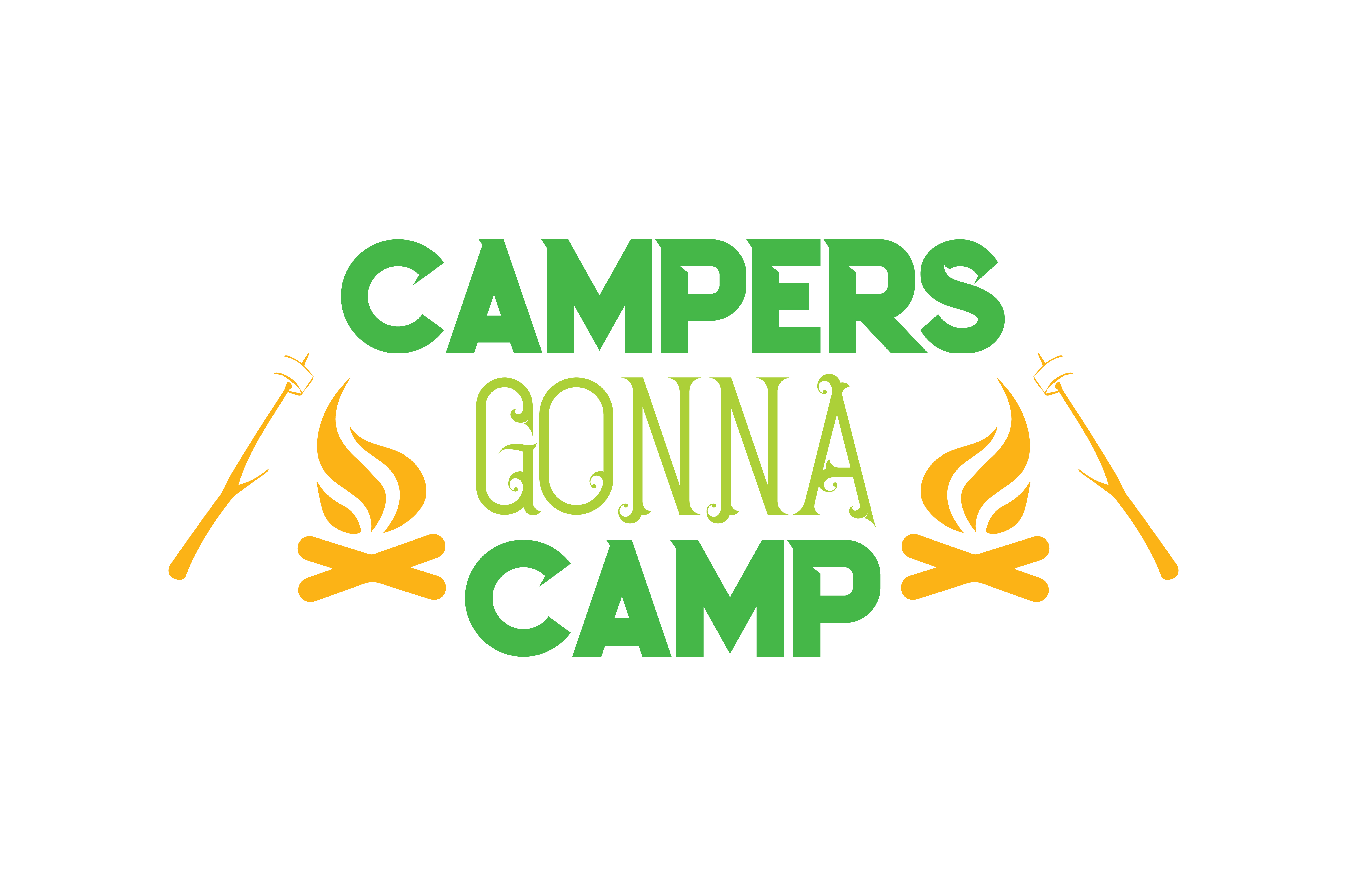 Download Free Campers Gonna Camp Quote Svg Cut Graphic By Thelucky Creative for Cricut Explore, Silhouette and other cutting machines.